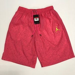 Nike Air Jordan Cement Poolside Shorts Pink Large